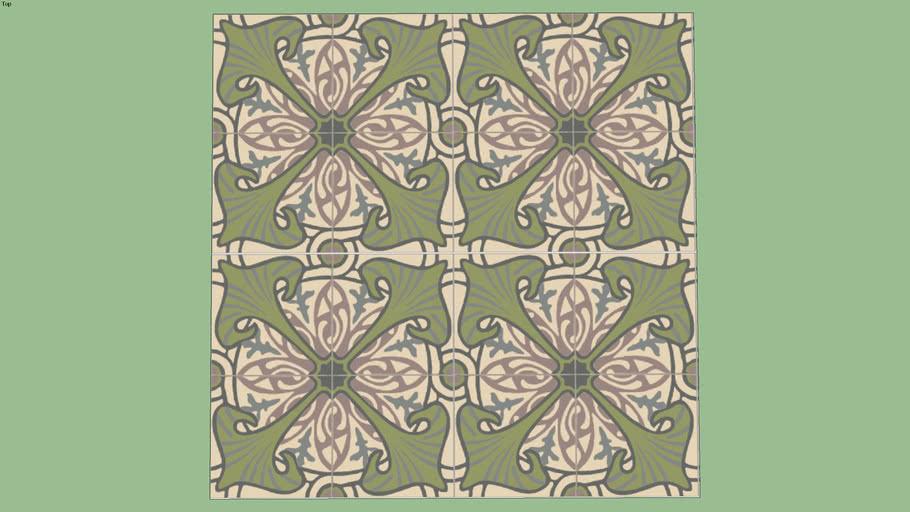 Majorelle Vert 20 20 Carreaux De Ciment Tiles Carrelages Du Marais 3d Warehouse