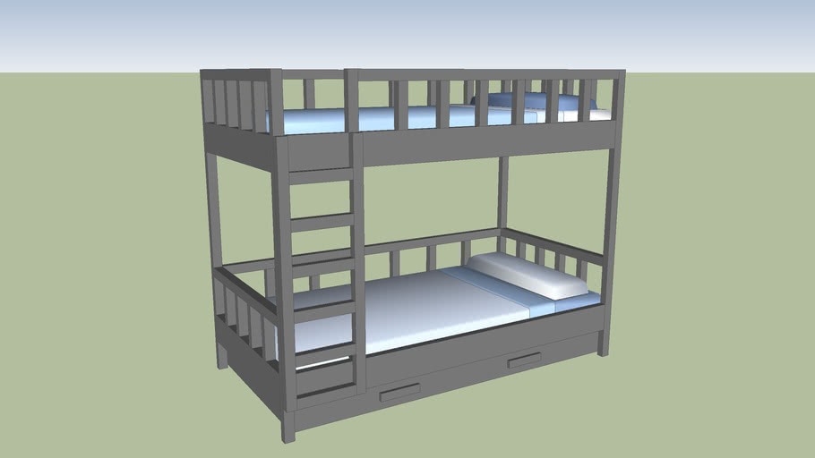 cama cucheta madera blanca