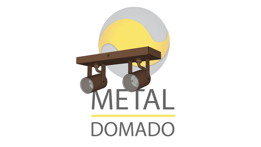 SPOT MINI REDONDO DUPLO 11355 - METAL DOMADO ILUMINAÇÃO