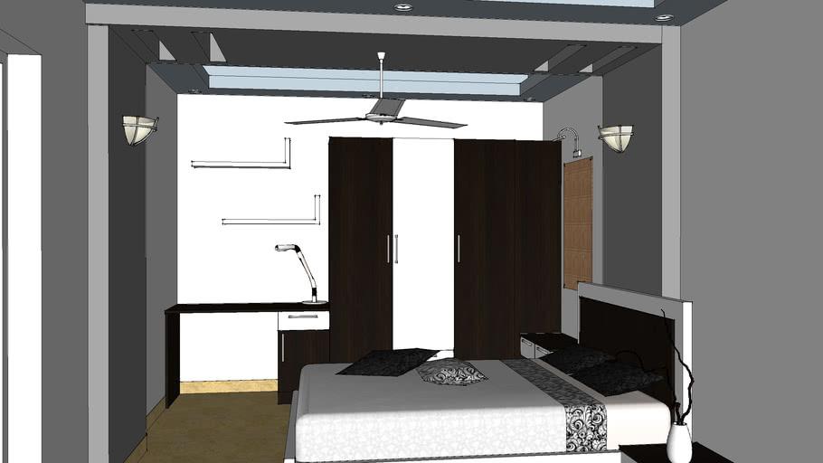 Bed room Cot & Wardrobe