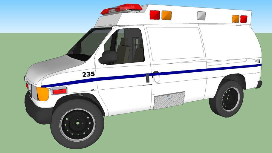ambulance type ll ford f350 econoline model 1992  diesel