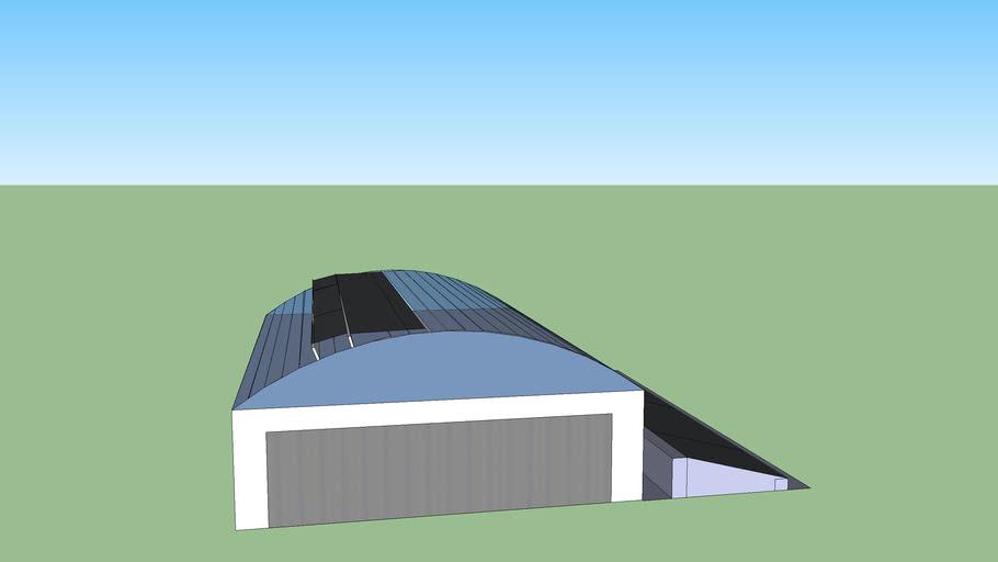 solar powered warehouse/hangar