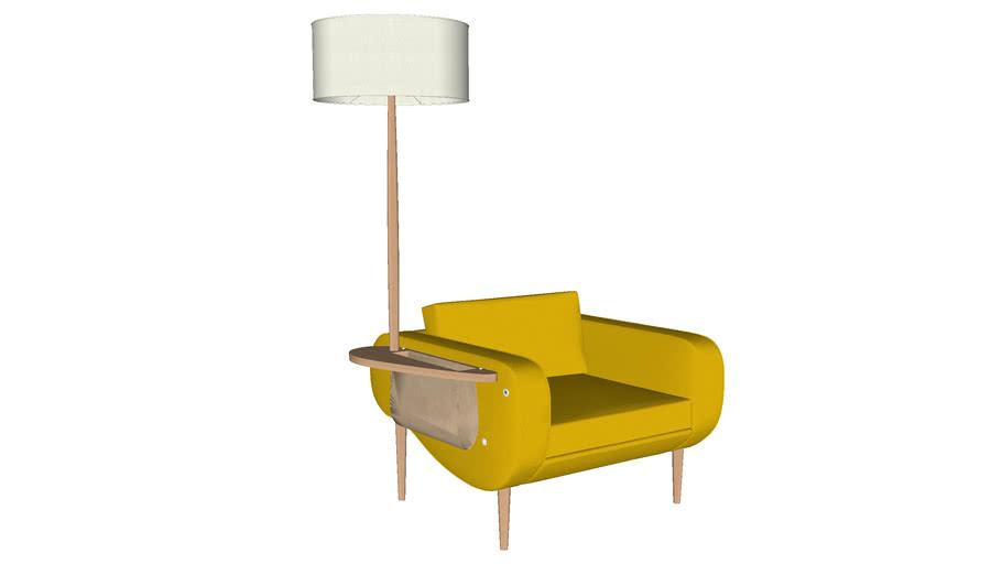 Illuminé Canapé : Le fauteuil Frédéric TABARY