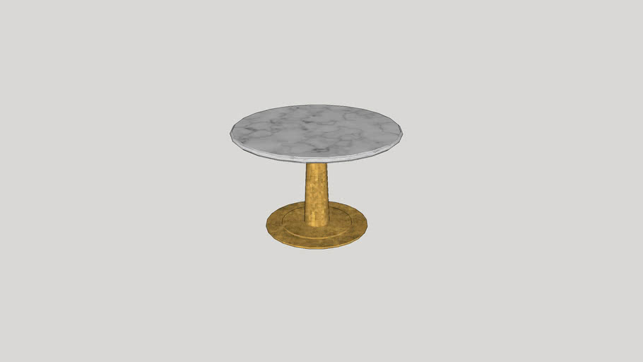 Round Marble Top Entry Table 3d Warehouse, Round Foyer Table Marble Top