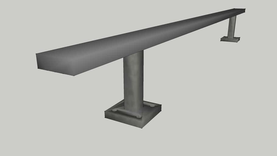 long low grind rail
