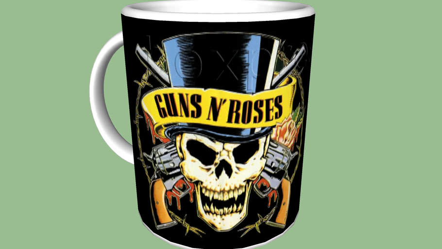 Caneca Guns And Roses mug