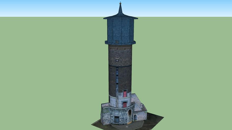 Historischer Windmühlenturm in Neuss