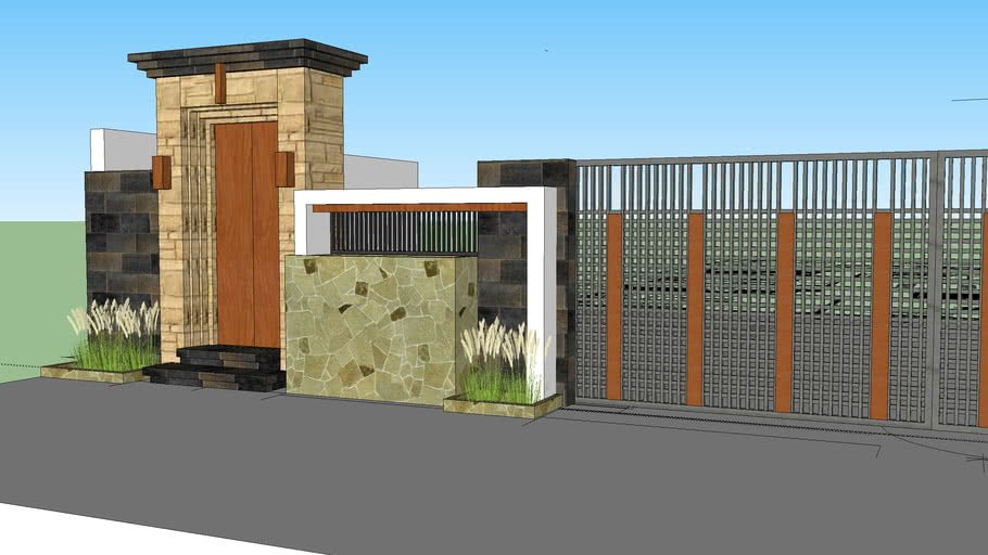 Desain Pagar Gerbang Bali 3d Warehouse