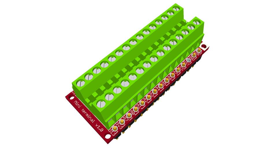 Nanoshield Mini Terminal v1.0