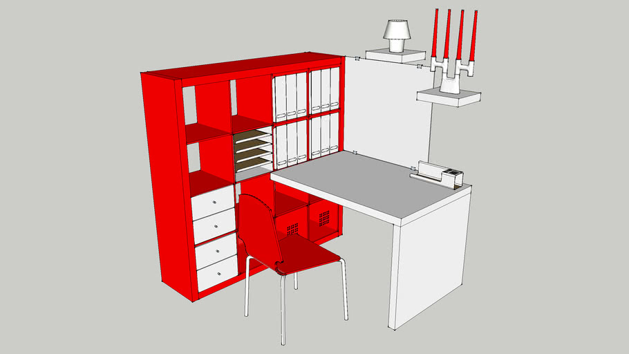 IKEA EXPEDIT red-white