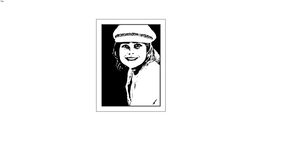 Young Girl in Beret in sketchup 7