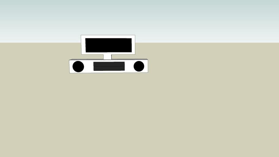 Stereo tv desk+ tv