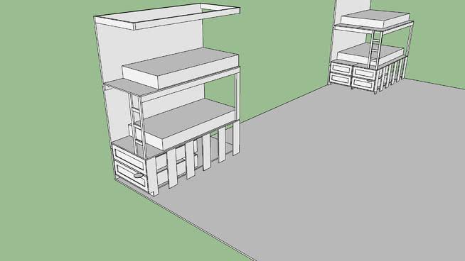bunk bed single 2b