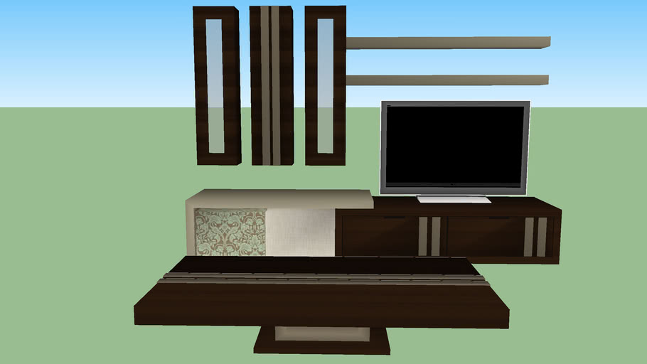 table and tv set