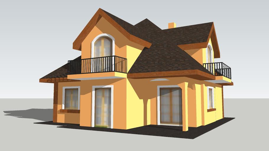 Building house загородный дом дача тип 002