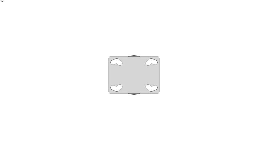 Roulette d'appareil fixe � platine - Roulement lisse