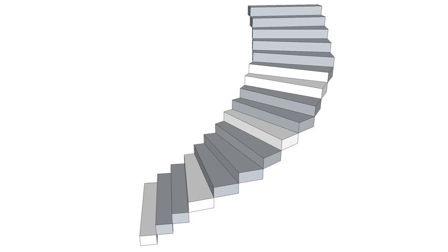 escada em metal semi circulo