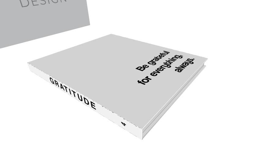 Livro Decorativo - Livro de mesa - GRATITUDE