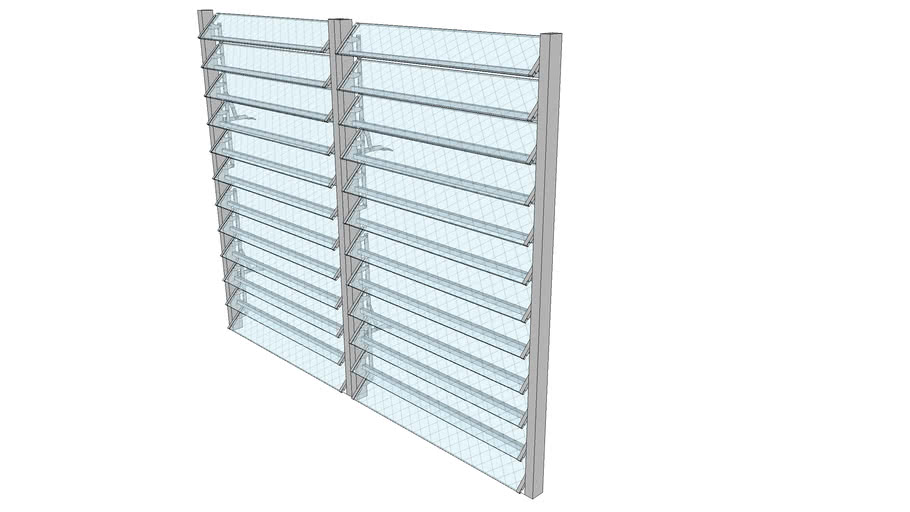 Jal.Window 2x0.65mx12B DC with grilles by Nats