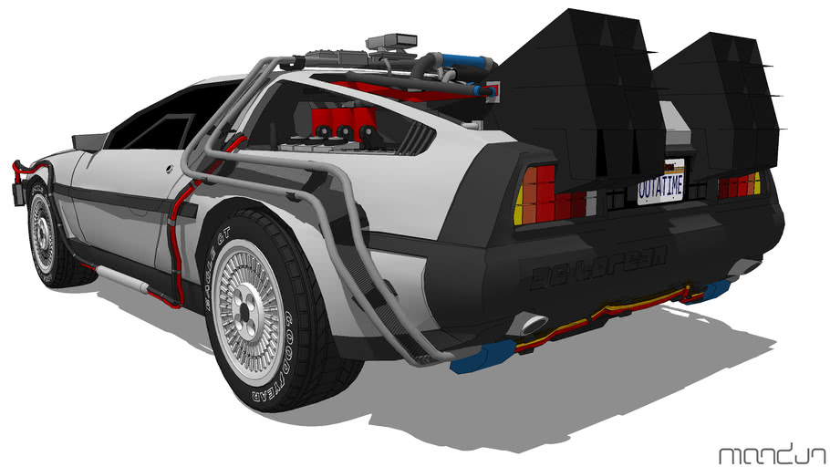 DeLorean estacionado