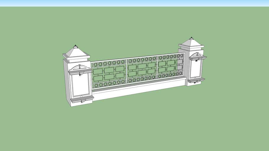 PAGAR MESJID MINIMALIS | 3D Warehouse