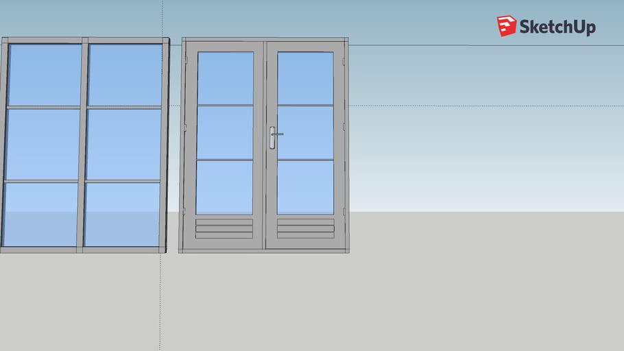 Windows and double door