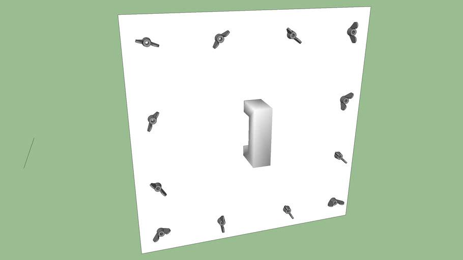 access door wing nut door