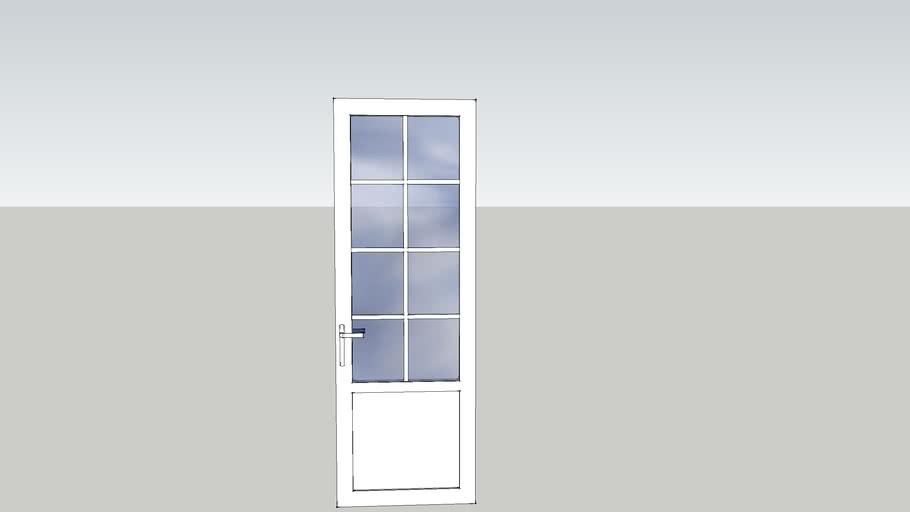 porte PVC vitrée