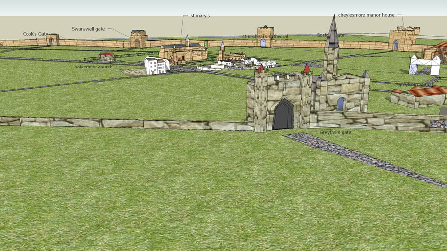 Coventry city gates and manor house's