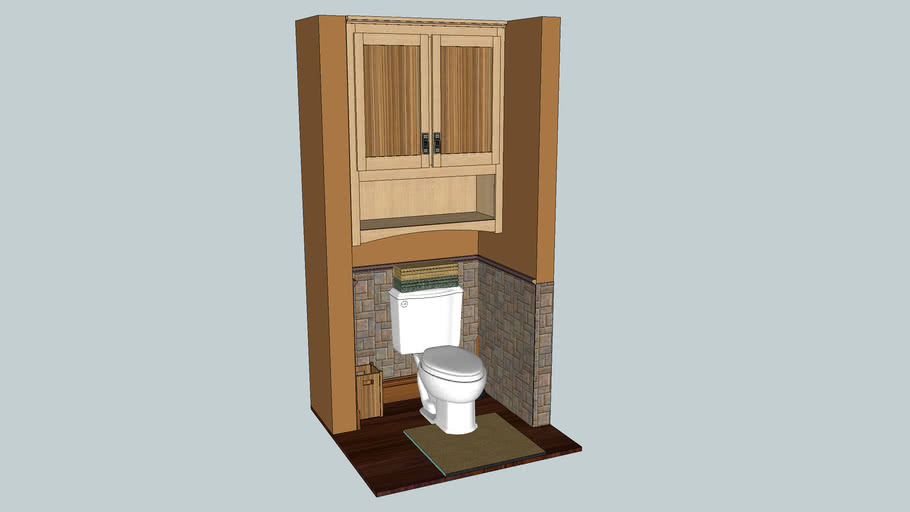 Cabinet Btw Walls Over Toilet