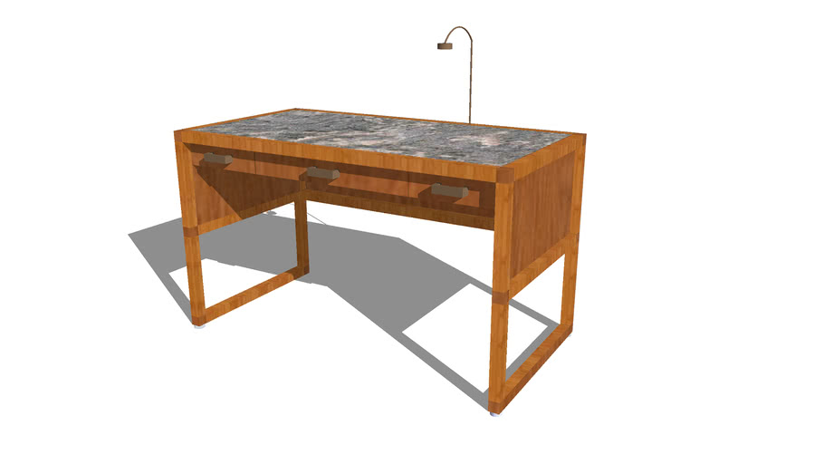 Desk-with-lamp