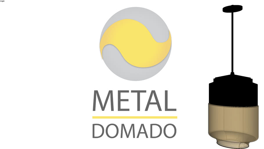PENDENTE CORTONA 5702 - METAL DOMADO ILUMINAÇÃO