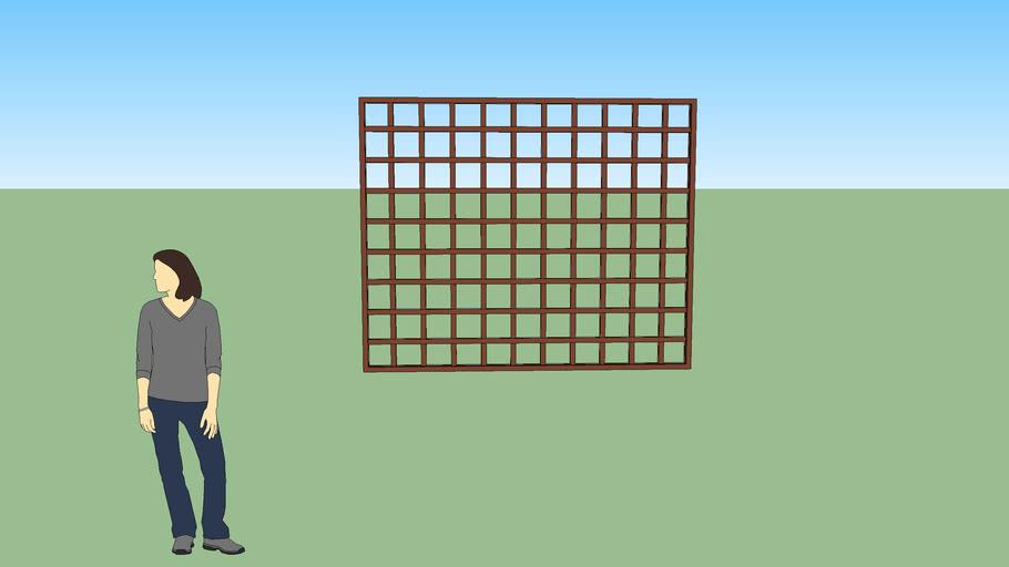 Squares Iron fence