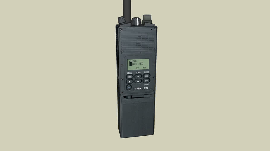Portable Radio Series - Thales AN/PFC-148 JEM Military Radio - LO REZ Model