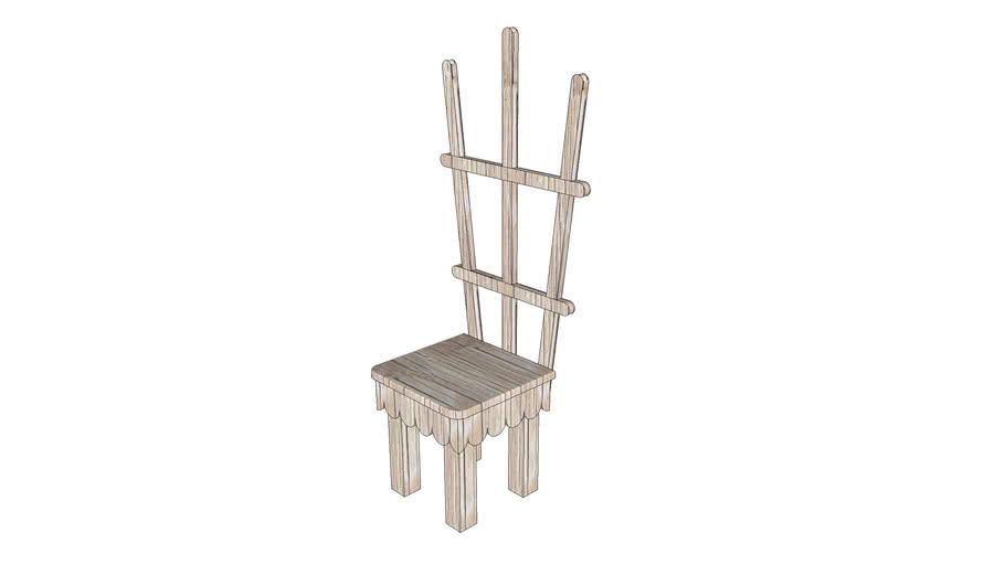 Chair Trellis Plant Stand