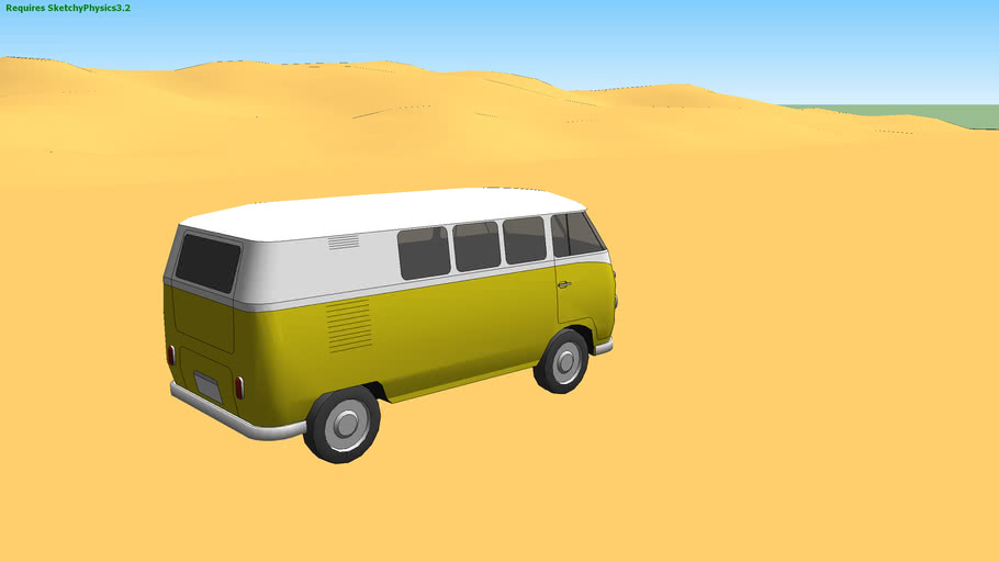 SketchyPhysics Volkswagen T1 Samba Bus