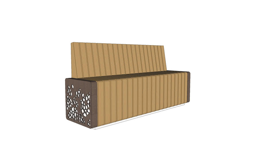 Marshalls Natural Elements - Seat Module with End Facia Panel