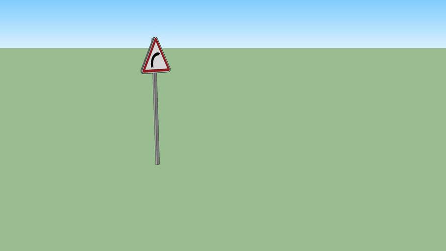 Panneau de signalisation A1a