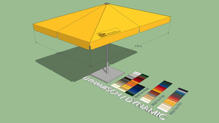 May Schattello 3x4.5m Rectangle Market Umbrella