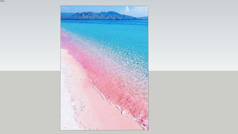 印尼粉紅沙灘    Indonesia pink beach    海報 poster