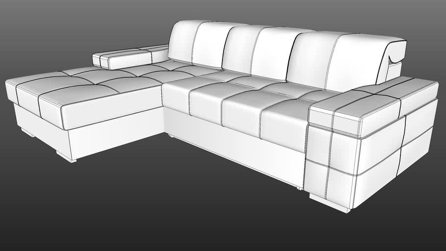 IWC|HOME - CARO corner sofa lo-poly