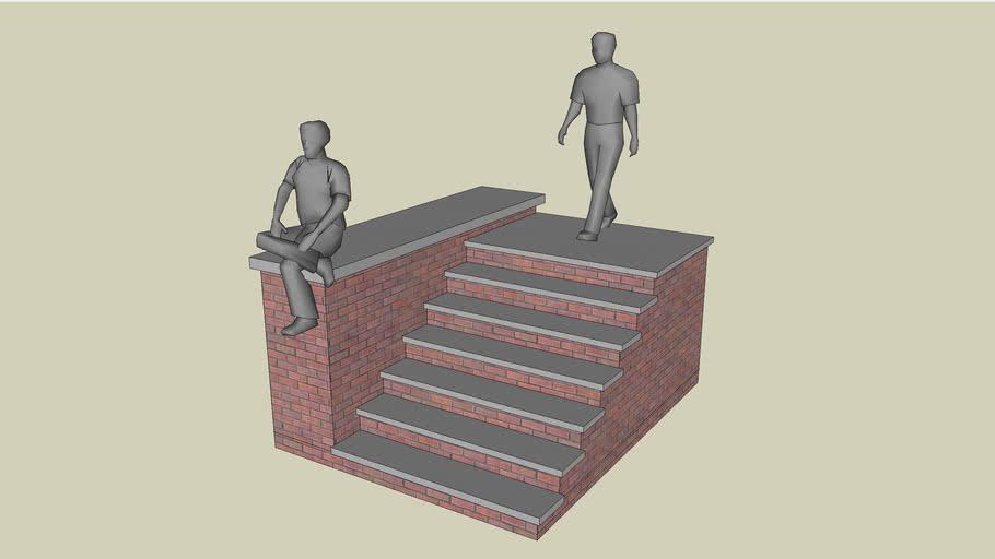 Stairway, Brick stoop