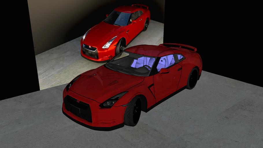 Nissan GTR (Ready V-RAY)