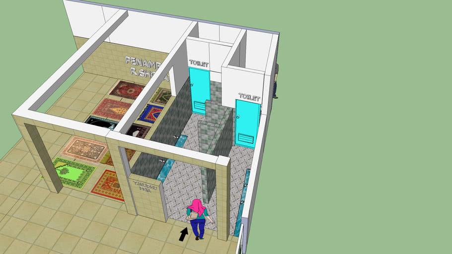 Tempat Wudhu Masjid Nuruhmah 3d Warehouse
