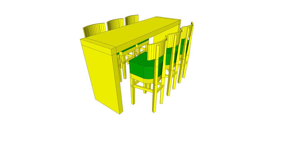 Dutch® High Table 200 cm (white) incl. 6 Dutch Barstool