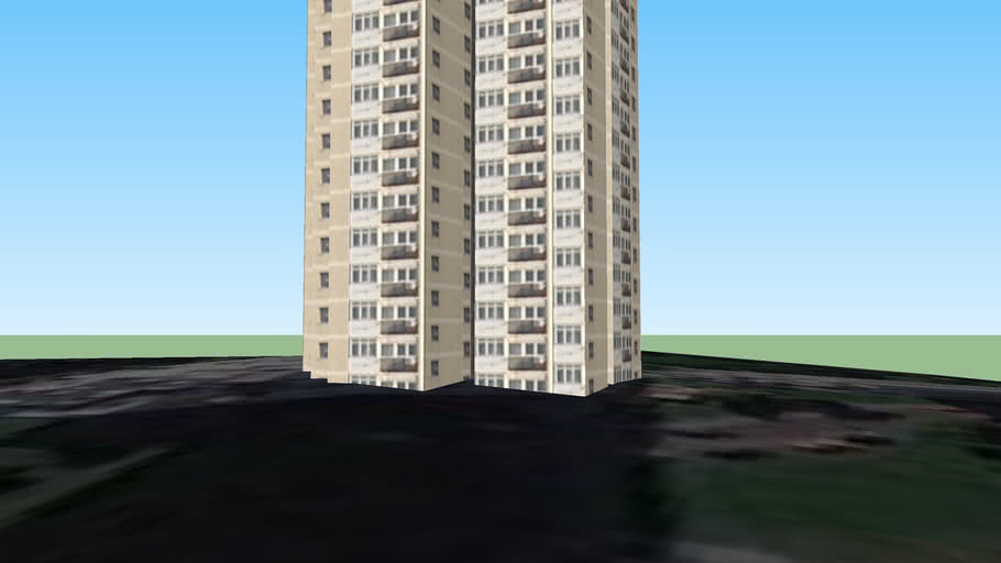 Cvjetno naselje - Zgrada
