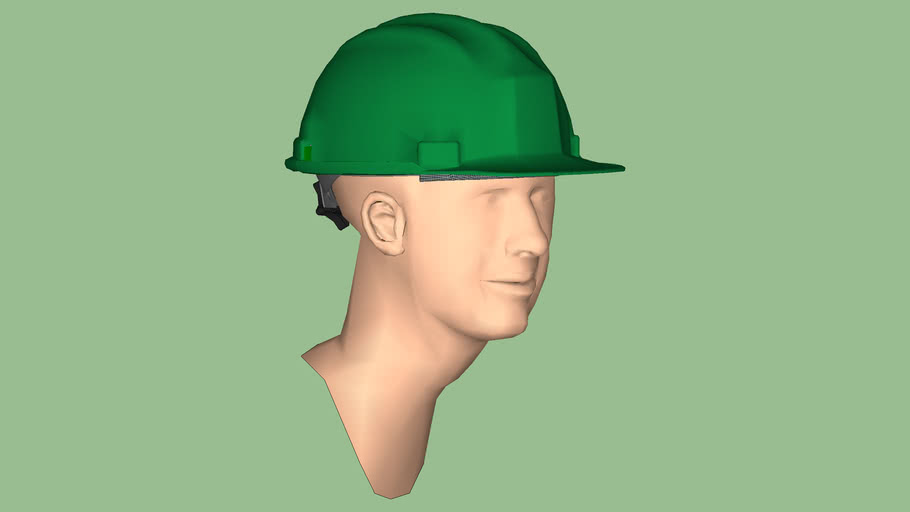 Safety First Series - Safety Hard Hat - Cap Style w/ Ratchet Suspension & Brow Pad - Green