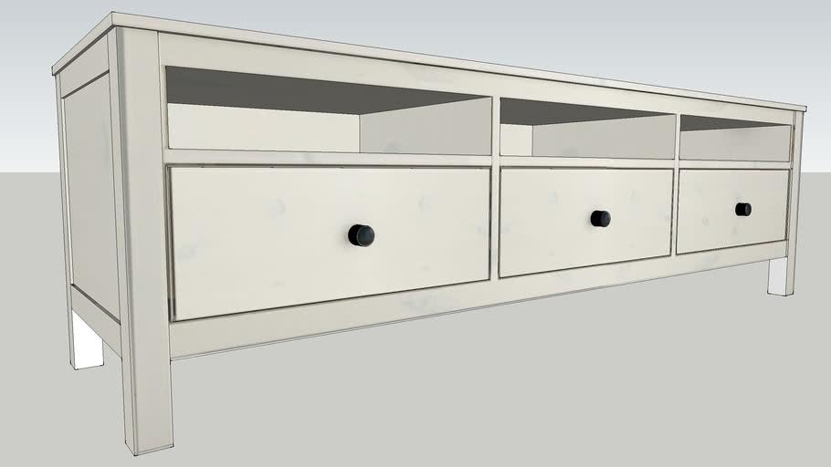 Ikea Meuble Tv Hemnes 3d Warehouse