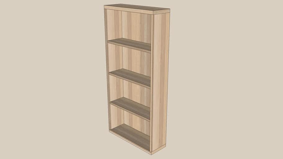 BESTA shelf 60x20x128 oak