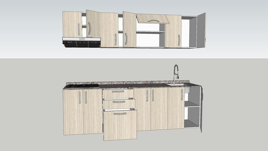 Muebles Cocina Lineal | 3D Warehouse
